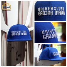 Topi Biru Bordir Universitas Gadjah Mada